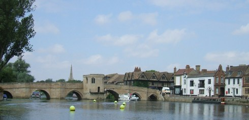 The old bridge at St. Ives