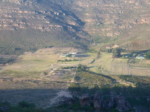 Southern skies lodge from the hill opposite