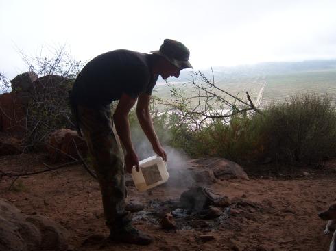 dousing the fire