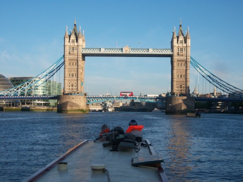 Approaching Tower Bridge